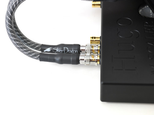 Silver Dragon Coax Digital Cable BNC Cables to connect Chord M Scaler to Hugo TT 2