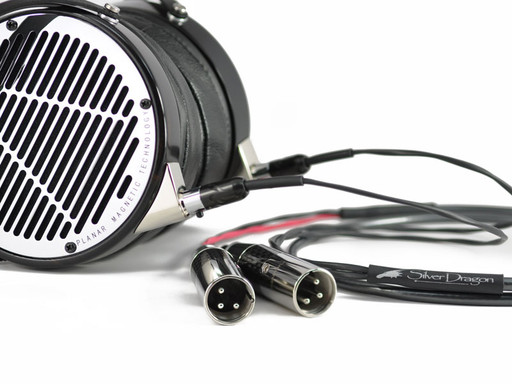 Silver Dragon Premium Cable for Audeze w/ Furutech CF-601 Male Dual 3 Pin XLR's