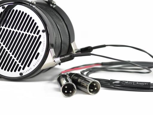 Silver Dragon Premium Cable for Audeze w/ Furutech CF-601 Male Dual 3 Pin XLR's