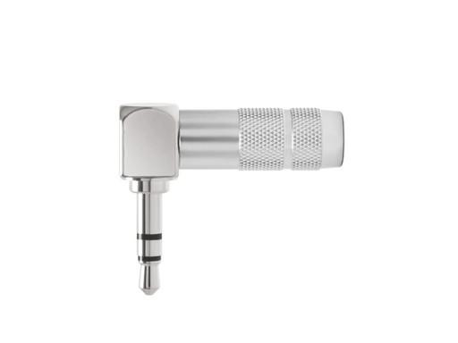 Oyaide 3.5mm Right Angled Rhodium mini Plug P-3.5 SRL