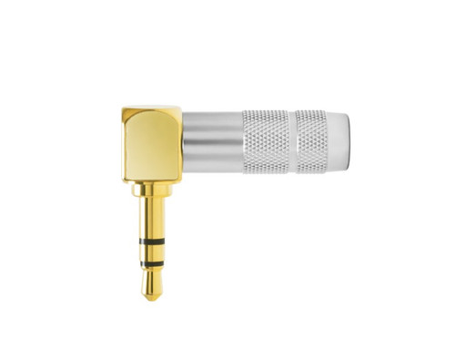 Oyaide 3.5mm  TRS Stereo Headphone Plug Right Angled  P-3.5GL