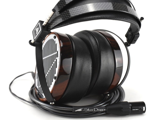 Audeze LCD-4 Headphones with Silver Dragon (Ebony Finish)