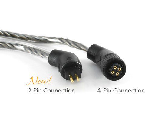 2-pin v. 4-pin connectors for Silver Dragon V2 IEM cables