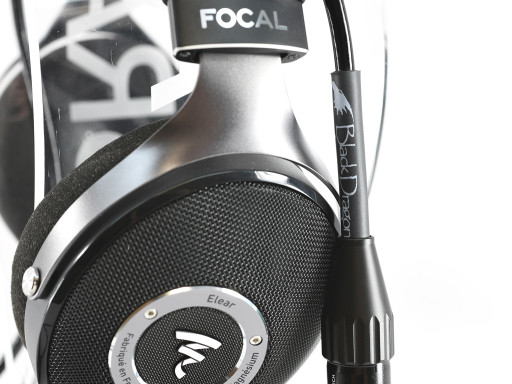 Black Dragon Premium Cable for Focal Elear or Elegia headphones