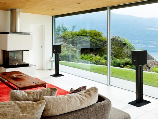 Aurender S5W wireless speakers in a living room