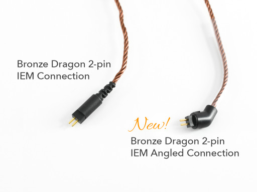 Bronze Dragon 2-pin IEM connector comparison