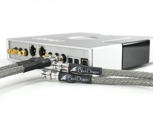 Chord Hugo TT 2 with Black Dragon Dual Coax Digital Cables