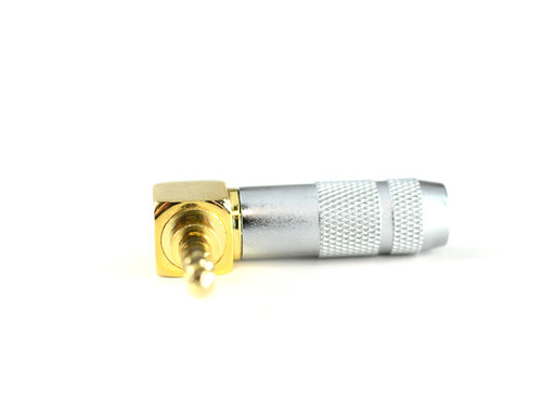 Moon Audio 4 pole 3.5mm TRRS Gold Right Angle Mini Connector