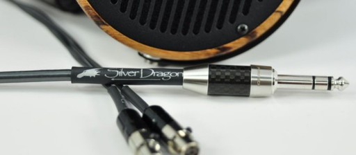 NEW Silver Dragon Audeze Headphone Cable at RMAF2013