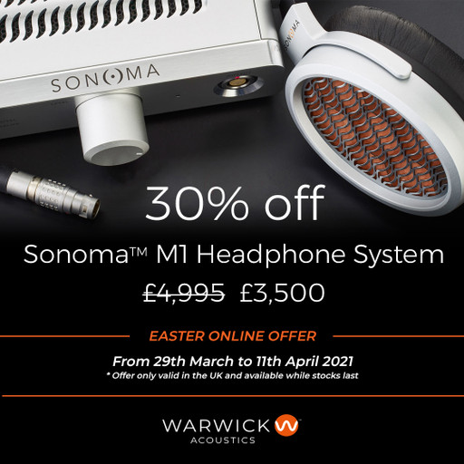 Easter Offer on the Warwick Acoustics Sonoma Headphones