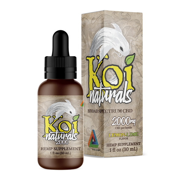 KOI tincture Lemon Lime broad spectrum 2000mg 30ml