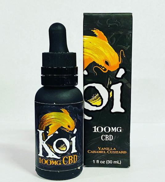 Koi CBD Vape oil Vanilla Caramel Custard 30ml 100mg