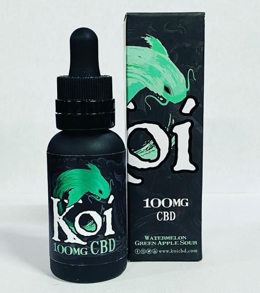 Koi CBD Vape oil Watermelon Green Apple Sour 30ml 100mg