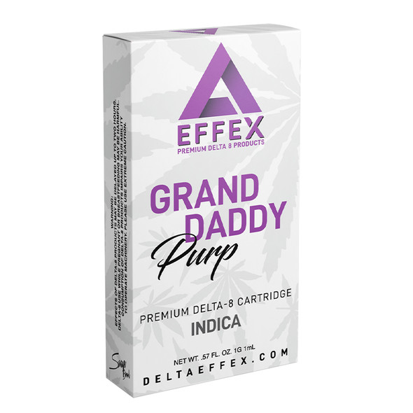 Granddaddy Purp Delta 8 Cartridge - Delta Effex 1g