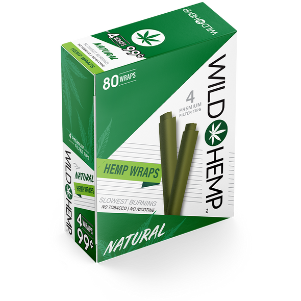 Natural Wild Hemp Wraps - box of 20 packs