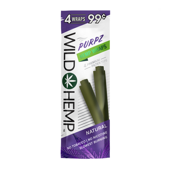Purpz Wild Hemp Wraps - box of 20 packs