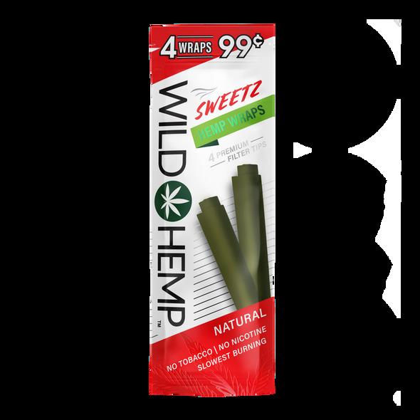 Sweetz Wild Hemp Wraps - box of 20 packs