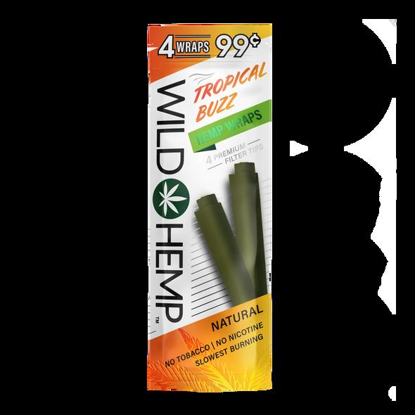 Tropical Buzz Wild Hemp Wraps - box of 20 packs