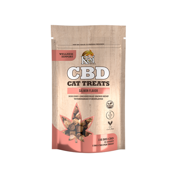Koi CBD Cat Treats Salmon Flavor, 75 pcs, 150mg
