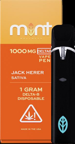 Jack Herer Delta 8 Disposable - Sativa 1000mg - Mint Wellness