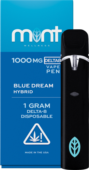 Blue Dream Delta 8 Disposable - Hybrid 1000mg - Mint Wellness