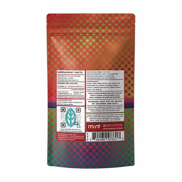 Tropical Berry D8 gummies – Mint wellness 250mg 10 Count