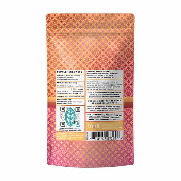Strawberry Lemonade Sours D8 gummies – Mint wellness 250mg 10 Count