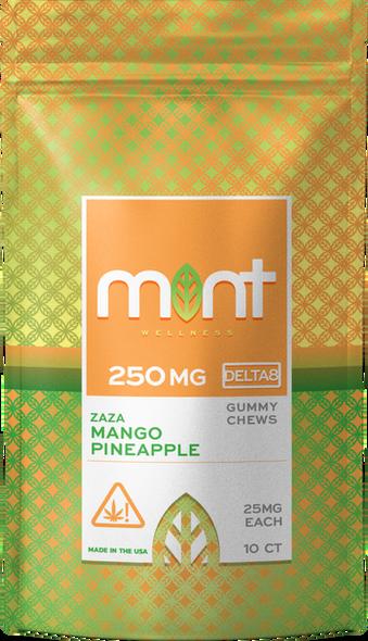 Mango Pineapple D8 gummies – Mint wellness 250mg 10 Count