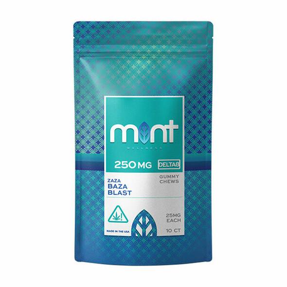 Baza Blast D8 gummies – Mint wellness 250mg 10 Count