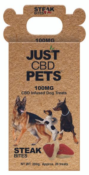 Just CBD Dog Treats - Steak Bites - 100mg