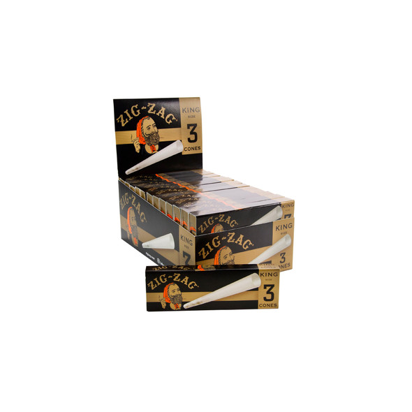 Zig Zag - King Size - Cones Carton - 24 Pack Carton