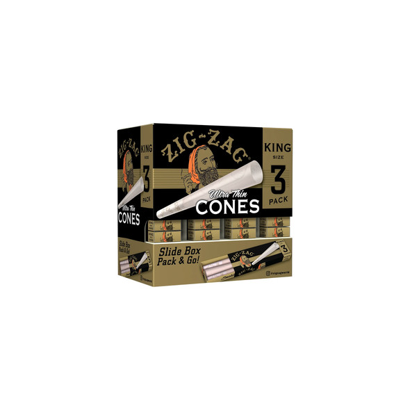 Zig Zag - King Size - Cones Carton - 36 Pack Display