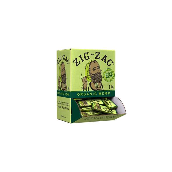Zig Zag - 1 1/4 Organic Hemp Papers Carton - 48 Pack Display