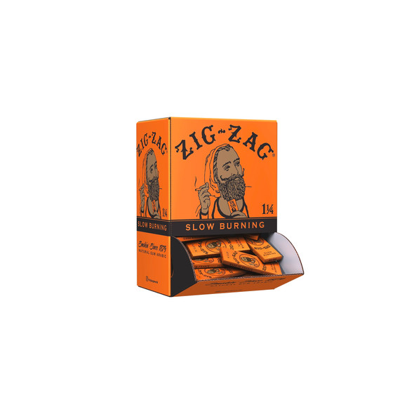 Zig Zag - 1 1/4 French Orange Rolling Papers Carton - 48 pack Display