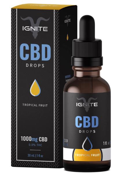 1000MG CBD Oil Drops - Tropical Fruit