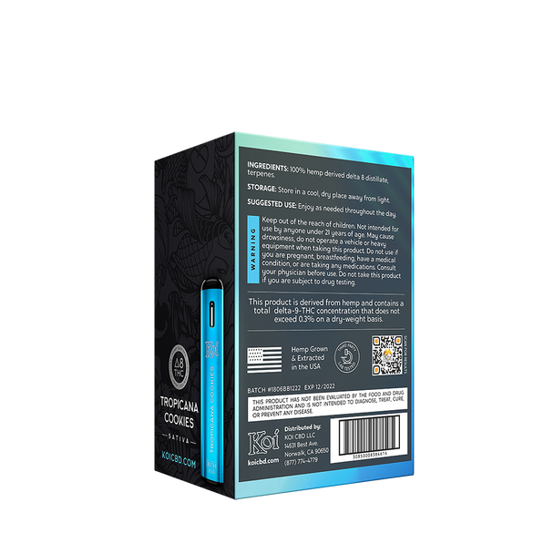 Tropicana Cookies D8 disposable bar  500 mg / 0.5 g