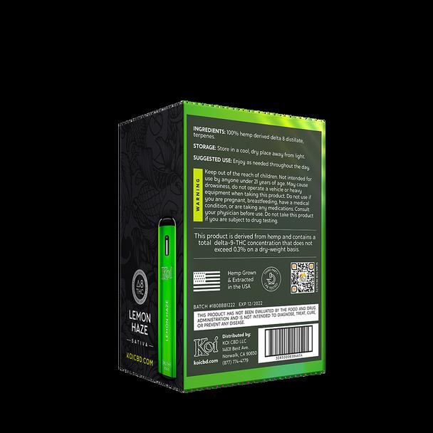 Lemon Haze D8 disposable bar 500 mg / 0.5 g