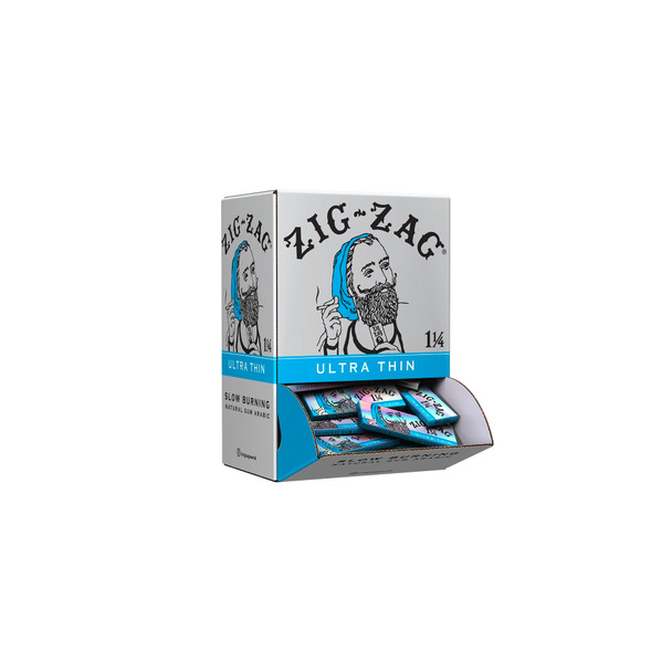 Zig Zag - 1 1/4 Ultra Thin Papers Carton - 48 Pack Display