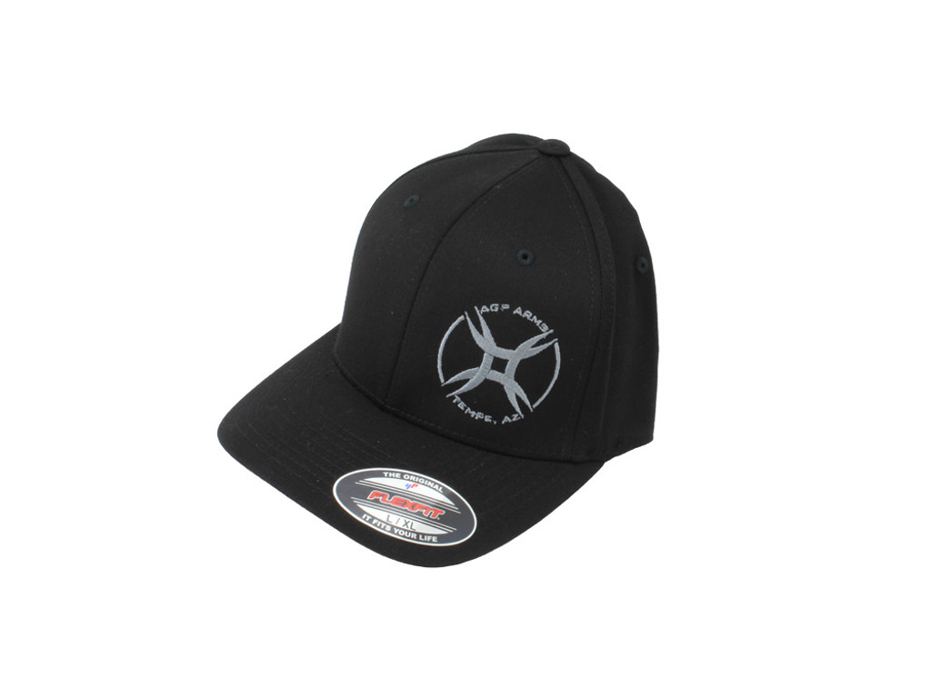 AGP Arms Flexfit Hat Black with Gray Logo