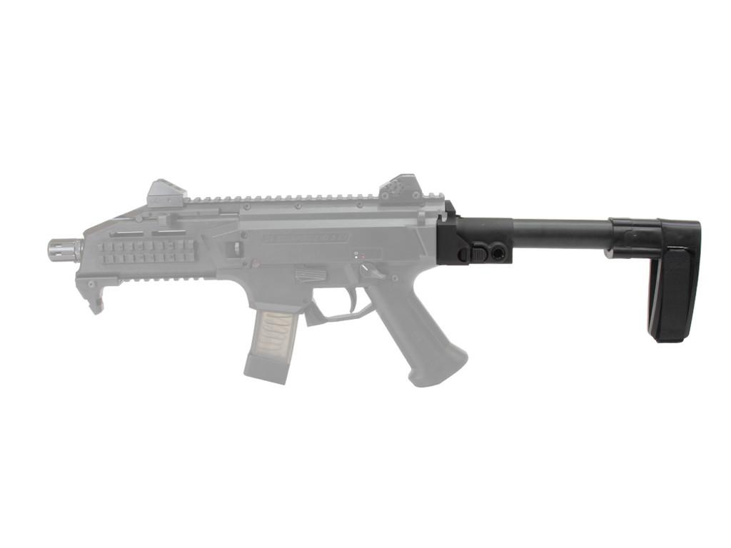 AGP Arms Lightweight Folding Brace Kit With SB Tactical SB-Mini Designed for CZ Scorpion Evo 3