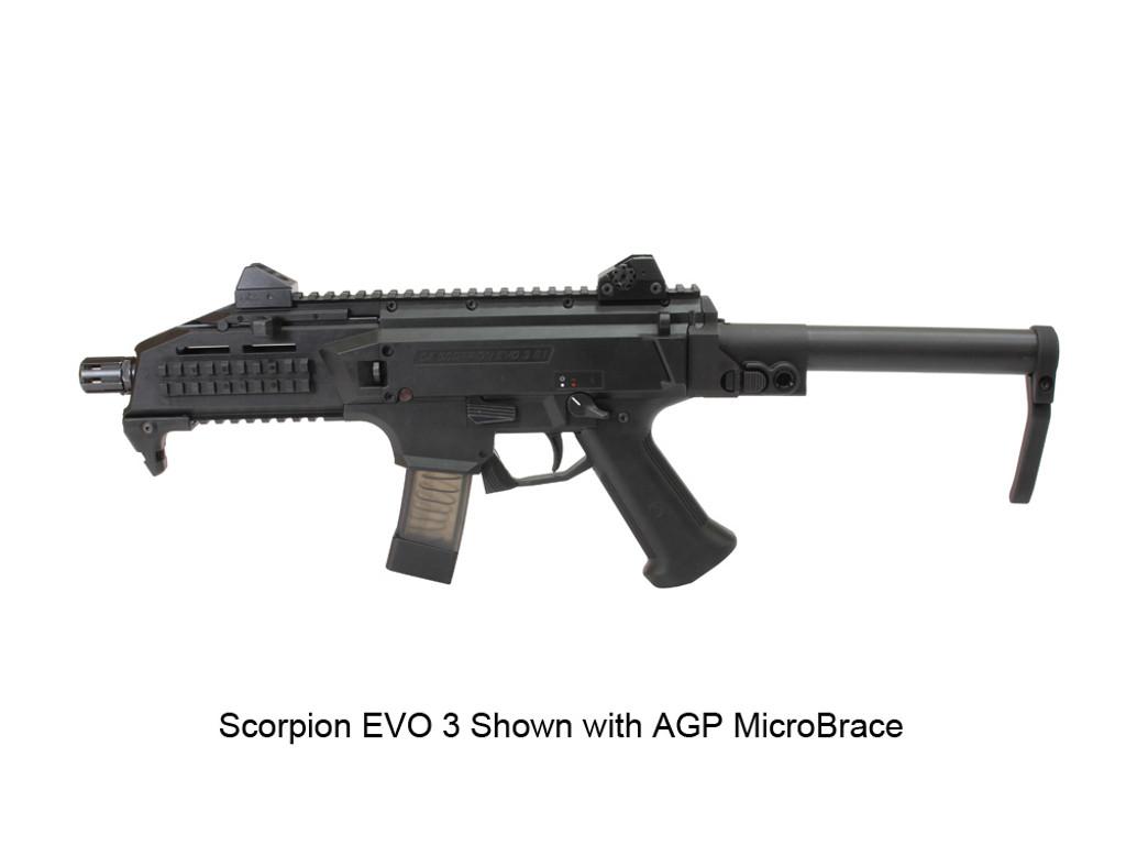AGP Arms Lightweight Folding Brace Kit With AGP MicroBrace Designed for CZ Scorpion Evo 3