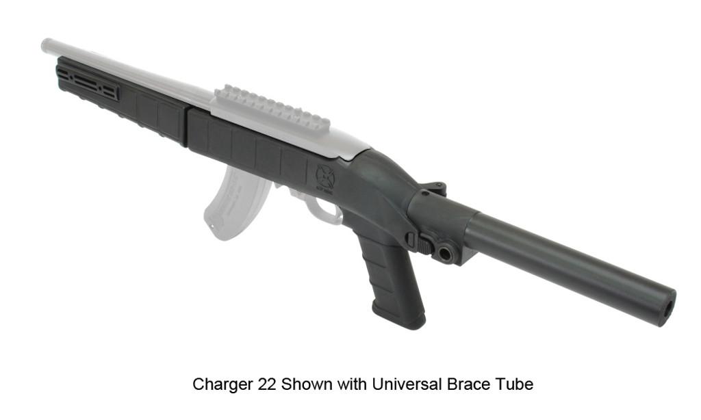 AGP Arms Lightweight Folding Universal Tube Brace Kit w/ T Block - Designed for 22 Charger™ w/ .920 Bull Barrel