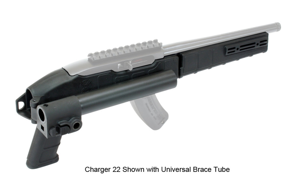 AGP Arms Lightweight Folding Universal Tube Brace Kit w/ T Block - Designed for 22 Charger™ w/ Tapered Barrel