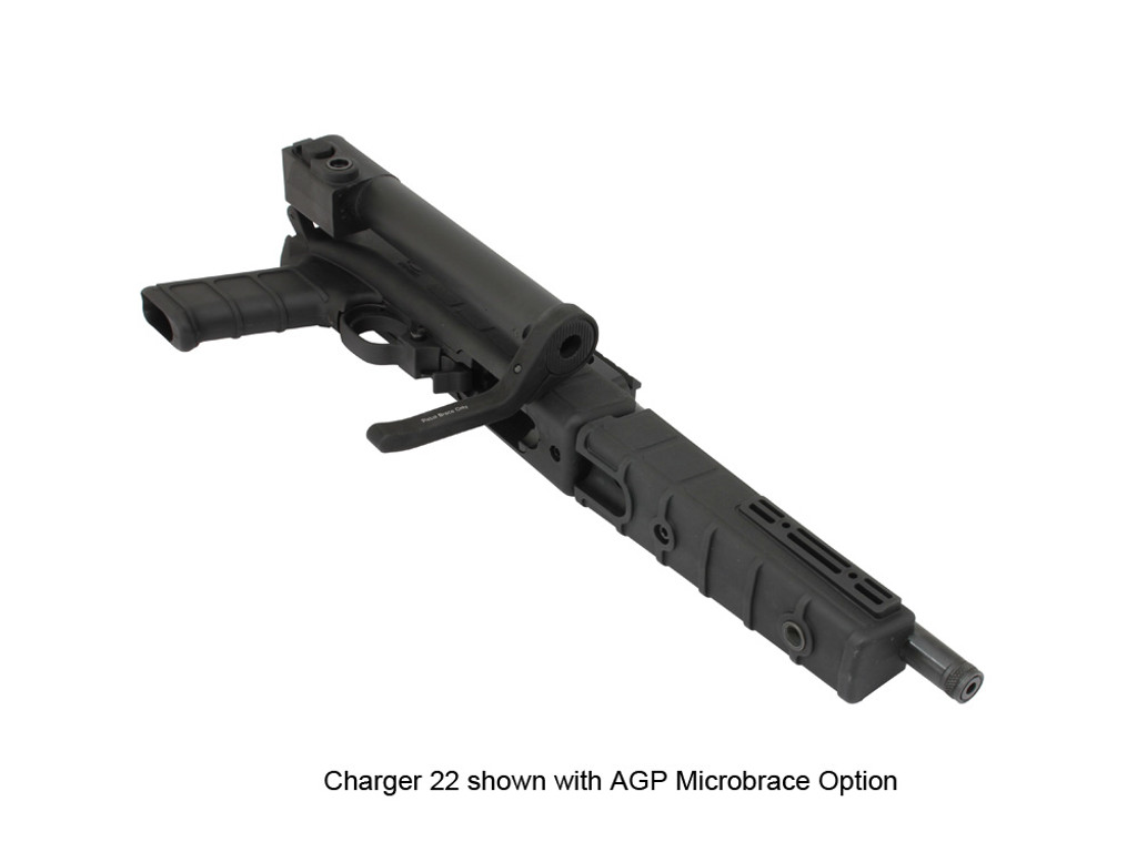AGP Arms Lightweight Folding MicroBrace Kit w/ T Block - Designed for 22 Charger™ w/ Tapered Barrel