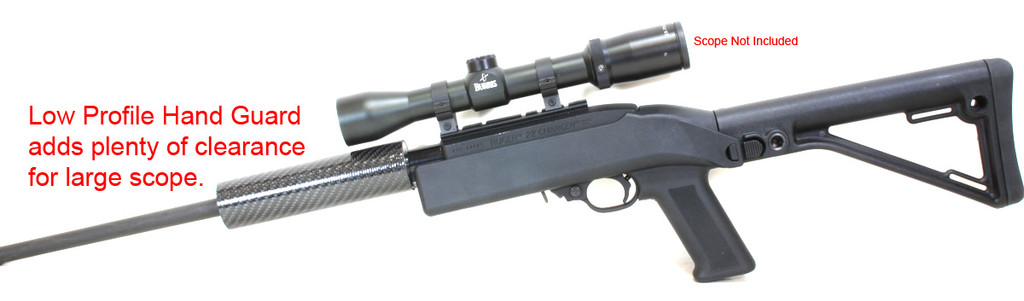 Low Profile Carbon Fiber Handguard will clear large scopes