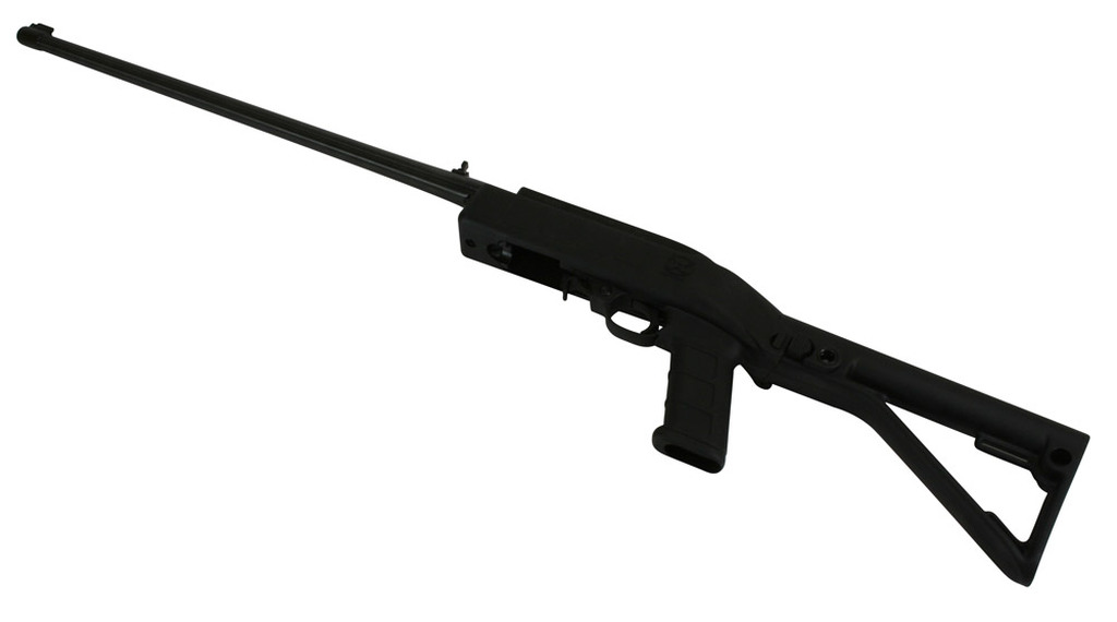 Folding Stock Kit in Black shown on a Standard 10/22