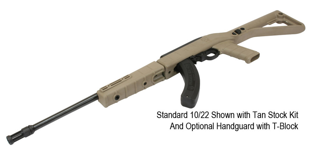 Standard 10/22 Shown with Tan Stock Kit and Optional Handguard