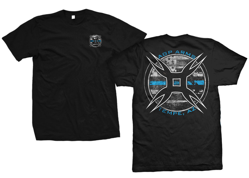 AGP Arms Blue Line T Shirt