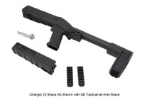 AGP Arms Lightweight Folding SB Tactical Mini Brace Kit w/ T Block - Designed for 22 Charger™ w/ Tapered Barrel