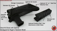 AGP Arms Folding Stock Kit Gen2 Designed for Ruger® 10/22®
